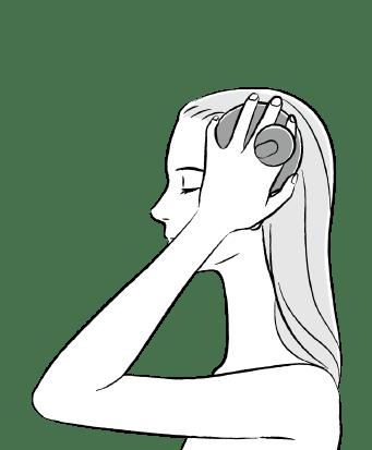 前頭部と側頭部のケア